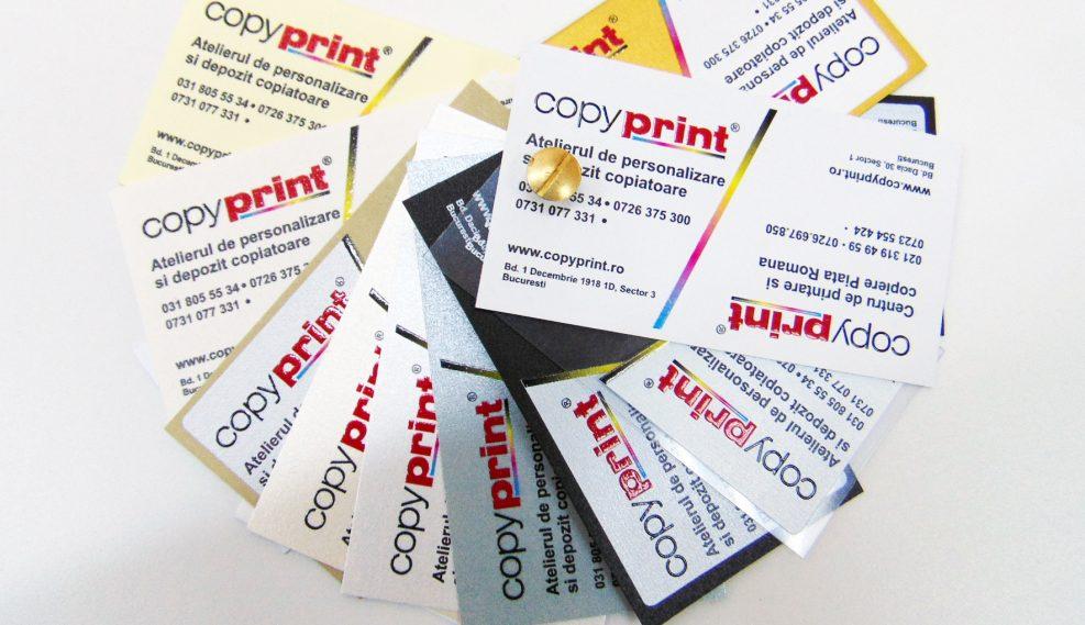 carti de vizita cu lacuire selectiva si print in relief