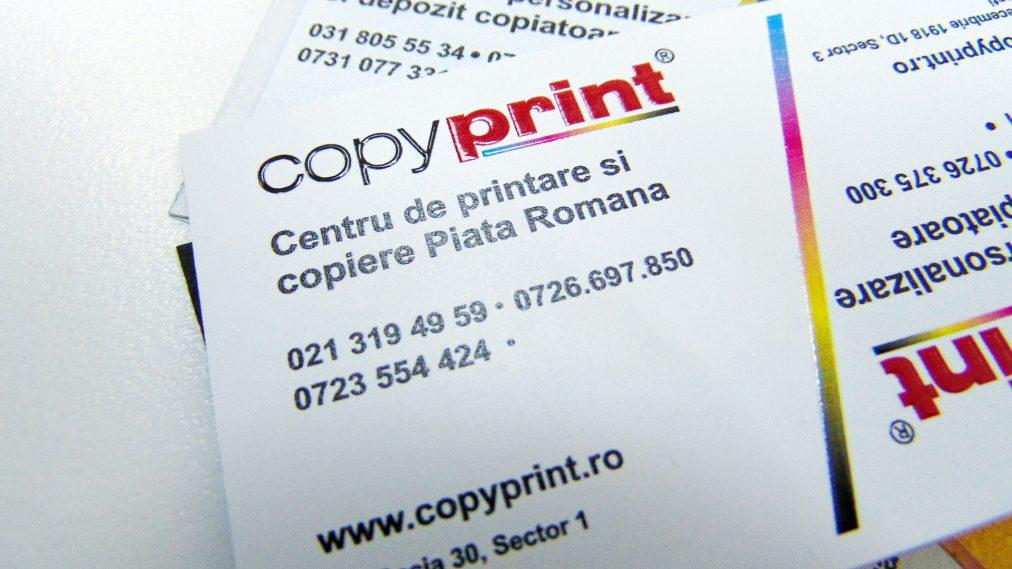 carte de vizita imprimanta pe plastic alb
